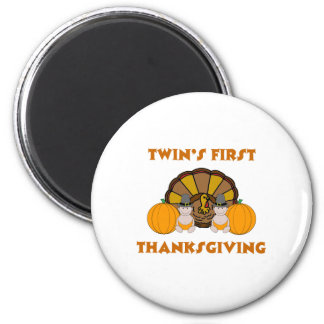 Twins First Thanksgiving Magnet