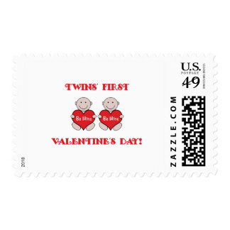 Twins First Valentines Postage