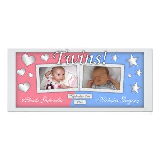 Twins Girl & Boy Birth Announcements