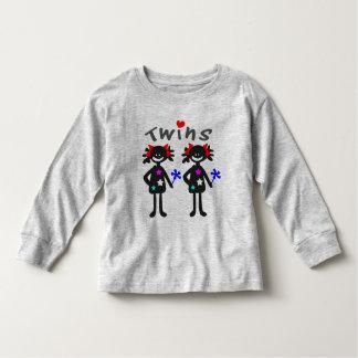 Twins girls vector graphic art toddler t-shirt