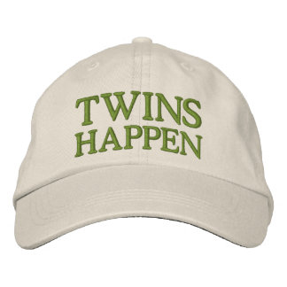 Twins Happen Embroidered Baseball Cap