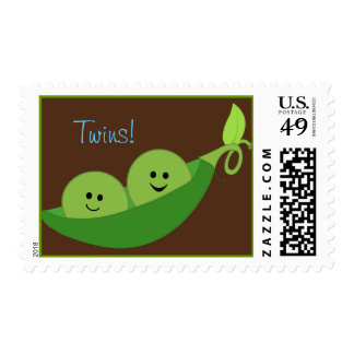 Twins in a Pea Pod Postage