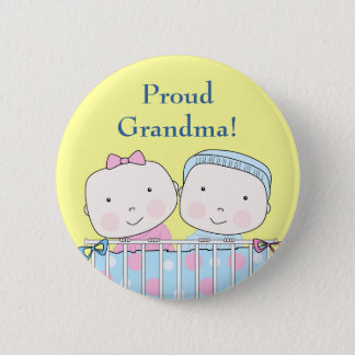 Twins in Crib, Grandparent Pin
