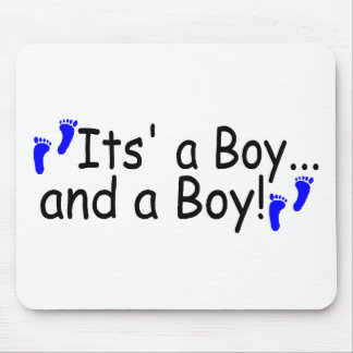 Twins Its a Boy and a Boy Mouse Pad