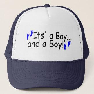 Twins Its a Boy and a Boy Trucker Hat