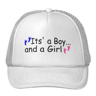 Twins Its A Boy and A Girl Hat