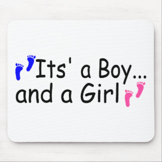 Twins Its A Boy and A Girl Mouse Pad