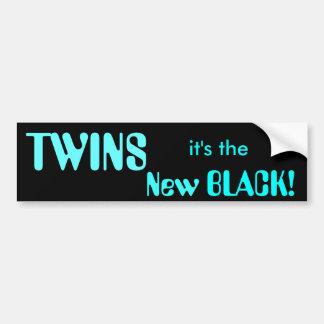 TWINS, it's the New BLACK! Bumper Sticker