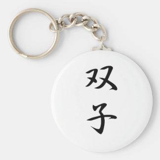 Twins Kanji Keychain