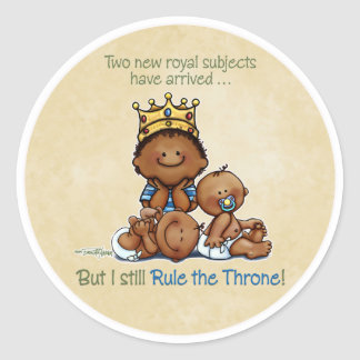 Twins King African American Big Brother - stickers