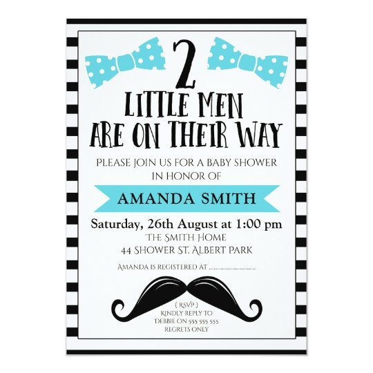 Twins little man mustache baby shower invitation zazzle twins little man mustache baby shower invitation filmwisefo