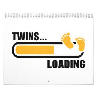 Twins loading wall calendar