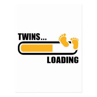 Twins loading postcard