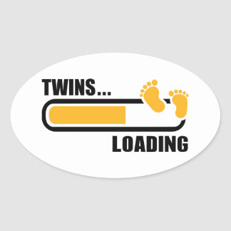 Twins loading oval stickers