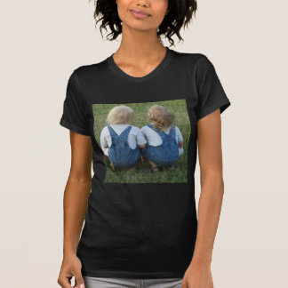twins looking away T-Shirt