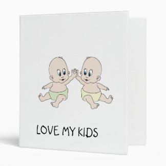 twins, LOVE MY KIDS 3 Ring Binder