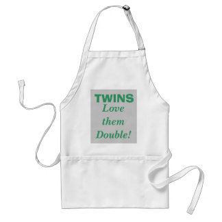 TWINS, Love them Double! Adult Apron