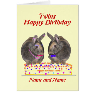 cute twins birthday greeting cards  zazzle, Birthday card
