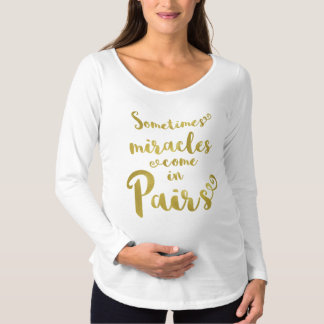 Twins Maternity T-Shirt Gold Foil Quote