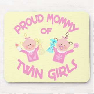 Twin's Mom Mother's Day Twin Girls Mouse Pad