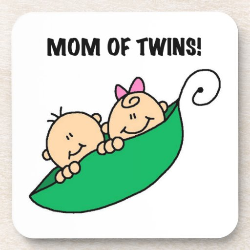 Twins Mom- Peas in a Pod Gifts Beverage Coasters