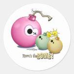 Twins - Mom's the Bomb Classic Round Sticker