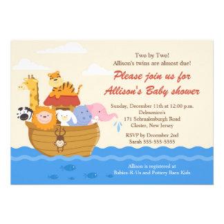 TWINS! Noah's Ark Boy or Girl Baby Shower Invitations