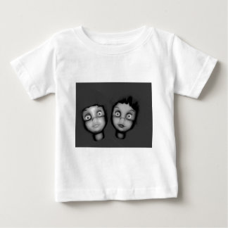 TWINS OF TERROR HAUNTED DOLLY DESIGN BABY T-Shirt