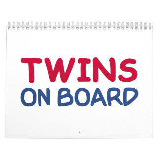 Twins on board calendar