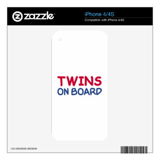 Twins on board iPhone 4S decal