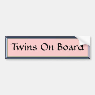 Twins On Board Pink Bumper Sticker by Heard_
