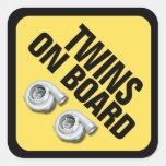 Twins on Board - Twin Turbo Stickers