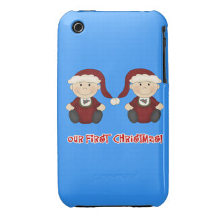 Twins:  Our First Christmas Customizable iPhone 3 Case