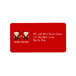 Twins:  Our First Christmas Customizable Personalized Address Labels