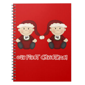 Twins:  Our First Christmas Customizable Notebook