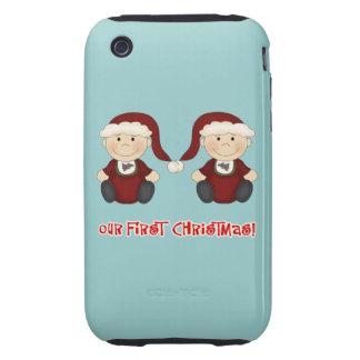 Twins:  Our First Christmas Customizable Tough iPhone 3 Cover