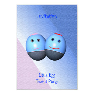 Twin's Party Invitation (change text) Personalised Announcement