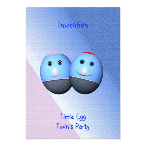 Twin's Party Invitation (change text)
