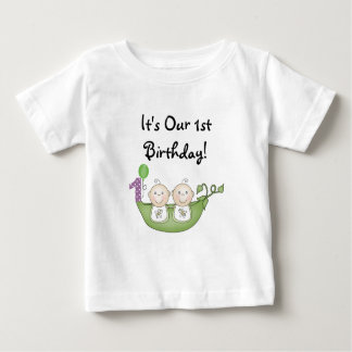 Twins Peas in a Pod  First Birthday Infant T-shirt