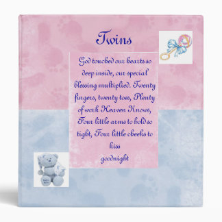 Twins Photo Album 3 Ring Binder