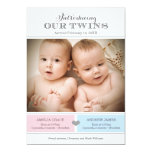 """Twins Photo Birth Announcement 