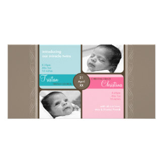 TWINS PHOTO BIRTH ANNOUNCEMENT :: cherished 1L