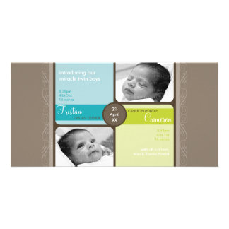 TWINS PHOTO BIRTH ANNOUNCEMENT :: cherished 2L