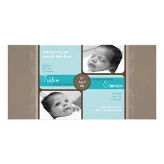 TWINS PHOTO BIRTH ANNOUNCEMENT :: cherished 3L