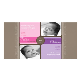 TWINS PHOTO BIRTH ANNOUNCEMENT :: cherished 4L