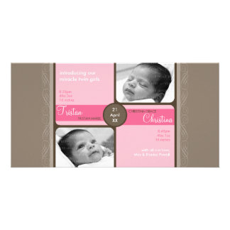 TWINS PHOTO BIRTH ANNOUNCEMENT :: cherished 5L