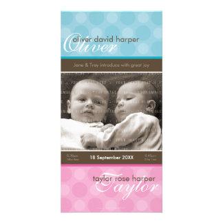 TWINS PHOTO BIRTH ANNOUNCEMENT :: harmony 1P