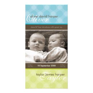 TWINS PHOTO BIRTH ANNOUNCEMENT :: harmony 3P
