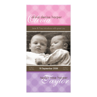 TWINS PHOTO BIRTH ANNOUNCEMENT :: harmony 4P