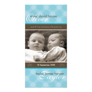 TWINS PHOTO BIRTH ANNOUNCEMENT :: harmony 5P